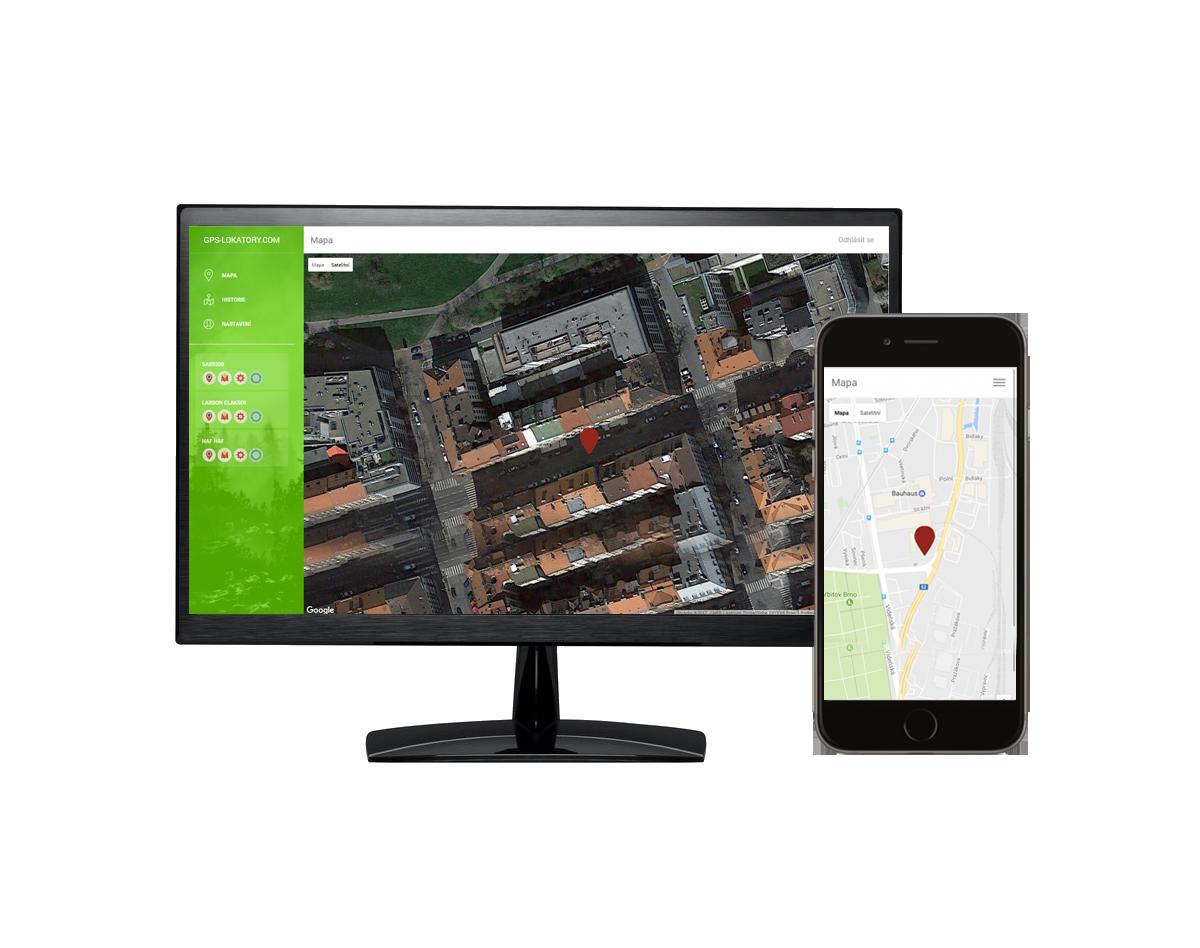 GPS on-line systém